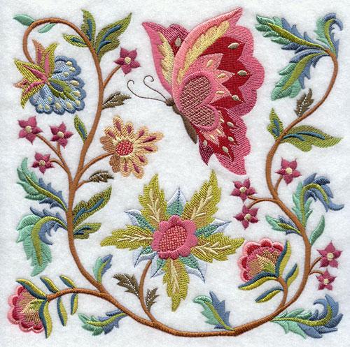 Восемнадцатого вышивка цветов рококо лотос разработка кадровых документов